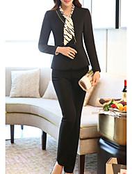 abordables -Femme Coton Blazer - Couleur Pleine, énorme Pantalon
