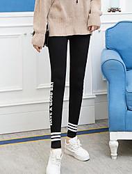 economico -Per donna Alla moda Poliestere Medio spessore Con stampe Ricami in pizzo Gambale,Nero Grigio