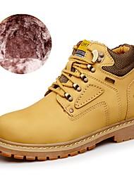 Недорогие -Муж. Универсальные обувь Наппа Leather Кожа Зима Весна Меховая подкладка Армейские ботинки Модная обувь Ботинки Сапоги до середины икры