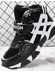 Недорогие -Мальчики Обувь Дерматин Весна / Осень Удобная обувь / Зимние сапоги Ботинки для Черный / Синий