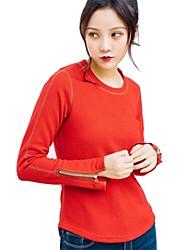 baratos -Mulheres Camiseta de Corrida - Amarelo, Vermelho, Khaki Esportes Pulôver / Blusas Manga Longa Roupas Esportivas Respirabilidade Sem