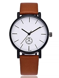 cheap -Men's Wrist watch Fashion Watch Chinese Quartz Large Dial Leather Band Casual Minimalist Black Brown Grey