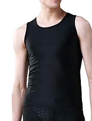 economico -Per uomo Extra velo Traspirante Morbido Crema solare Chinlon Scafandro Senza maniche Abbigliamento a compressione Top - Nuoto Immersioni