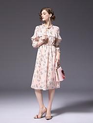 cheap -FRMZ Women's Cute Active Sheath Chiffon Dress - Floral