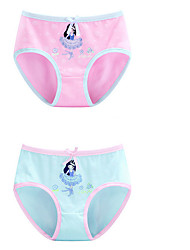 cheap -Girls' Solid All Seasons Underwear, Cotton Micro-elastic Blue Blushing Pink