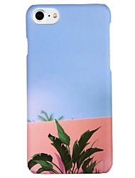 Недорогие -Кейс для Назначение Apple iPhone 6 iPhone 7 С узором Кейс на заднюю панель Пейзаж дерево Твердый ПК для iPhone X iPhone 8 Pluss iPhone 8