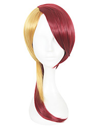 cheap -16inch Medium Long Dark Red&Blonde Mixed Land of the Lustrous Rutile Wigs Synthetic Anime Cosplay Wig CS-352C