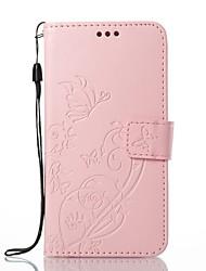 Недорогие -Кейс для Назначение Apple iPhone X iPhone 8 Бумажник для карт Кошелек со стендом Чехол Цветы Твердый Кожа PU для iPhone X iPhone 8 Pluss