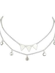 Недорогие -Жен. Слоистые ожерелья обернуть ожерелье Дамы Простой Классический Золотой Серебряный Ожерелье Бижутерия Назначение Повседневные Свидание