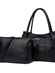 cheap -Women's Bags PU Bag Set 2 Pieces Purse Set Zipper for Casual Outdoor Winter Fall Blue Black Purple Wine