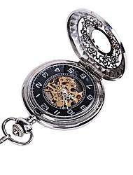 Недорогие -Для пары Часы со скелетом Карманные часы Кварцевый С гравировкой Повседневные часы сплав Группа Аналоговый Роскошь На каждый день Череп Серебристый металл - Серебряный