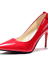cheap -Women's Shoes PU Spring Fall Comfort Heels High Heel for Casual Black Red Pink