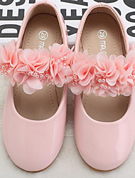 cheap -Girls' Shoes Synthetic Microfiber PU Spring Fall Comfort Flower Girl Shoes Flats for Casual Pink White
