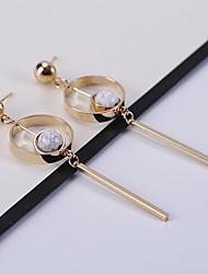 abordables -Mujer Turquesa Pendientes cortos / Pendientes colgantes - Acero inoxidable Clásico, Vintage, Moda Dorado Para Diario / Noche