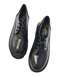 preiswerte -Damen Schuhe PU Winter Herbst Komfort Outdoor Stöckelschuh Geschlossene Spitze Mittelhohe Stiefel für Normal Draussen Schwarz