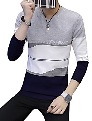economico -Per uomo Pullover Monocolore A V