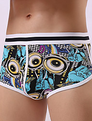 cheap -Men's Briefs Underwear Geometric Mid Waist