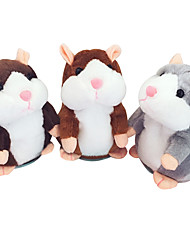 cheap -Little Talking Hamster Mouse Hamster Stuffed Animals Plush Toy Cute Talking Sound Recorder Cartoon Lovely Special Plush Girls' Boys'