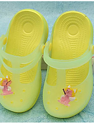 cheap -Girls' Shoes PVC Leather Spring Summer Comfort Slippers & Flip-Flops for Casual Light Yellow