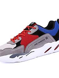 baratos -Homens sapatos Camurça Primavera Outono Solados com Luzes Conforto Tênis Corrida para Casual Ao ar livre Preto Cinzento