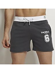 cheap -Men's Micro-elastic Solid Boxers Underwear Medium,Cotton One-piece Suit Light gray Navy Blue Red Blue