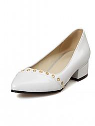 Недорогие -Жен. Обувь Дерматин Весна Осень Удобная обувь Оригинальная обувь Обувь на каблуках На низком каблуке Заостренный носок для Повседневные