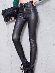 preiswerte -Damen Einfarbig Legging Solide Volltonfarbe Hoch
