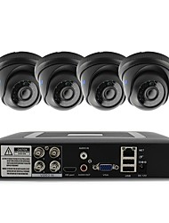 cheap -4CH 1080N DVR kit 4pcs Dome CCTV Camera Security System Indoor Day Night IR-CUT 3.6mm