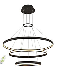 cheap -Electrodeless Dimming Led Pendant Lights Modern Simplicity Three Rings Living Room Bedroom Restaurant Chandelier