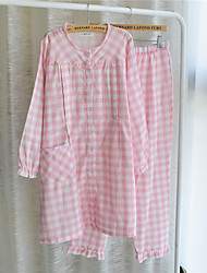cheap -Women's Suits Nightwear - Classic Style, Checkered