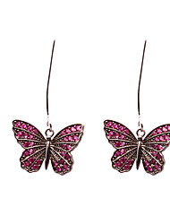 cheap -Women's Hoop Earrings - Silver Plated Dark Pink For Wedding / Party