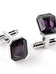 cheap -Geometric Purple / Blue Cufflinks Acrylic / Alloy Formal / Classic / Fashion Men's Costume Jewelry For Wedding / Party / Business /