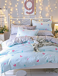 cheap -Duvet Cover Sets Contemporary Poly/Cotton Reactive Print 4 Piece