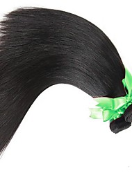 economico -4 pacchi Brasiliano Liscio Cappelli veri Ciocche a onde capelli veri Tessiture capelli umani Estensioni dei capelli umani / Dritto