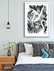 abordables -Animaux Bande dessinée Illustration Art mural,PVC Matériel Avec Cadre For Décoration d'intérieur Cadre Art Salle de séjour Chambre à