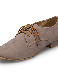 "cheap -Men's Latin Leather Sneaker Training Trim Low Heel Gray Under 1"" Customizable"