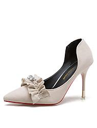 cheap -Women's Shoes PU Summer Slingback Sandals Wedge Heel Round Toe Buckle for Dress Black Camel Light Pink