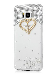 cheap -Case For Samsung Galaxy S8 Plus S8 Rhinestone Pattern Back Cover Heart Hard Acrylic for S8 Plus S8 S7 edge S7