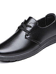cheap -Men's Shoes Rubber Spring / Fall Comfort Oxfords Black / Brown