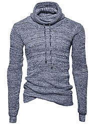 preiswerte -Herrn Langarm Pullover - Solide Rollkragen