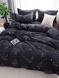cheap -Duvet Cover Sets Floral Contemporary Poly / Cotton Reactive Print 4 Piece