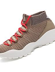 abordables -Hombre Punto Primavera / Otoño Confort Zapatillas de Atletismo Paseo Verde / Negro / blanco / Caqui