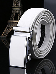 cheap -Genuine Leather Waist Belt,White Casual