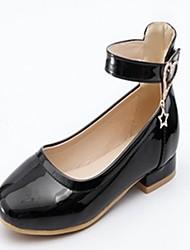 abordables -Femme Chaussures Similicuir Printemps Automne Nouveauté Confort Ballerines Talon Plat Bout rond Strass pour Habillé Blanc Noir