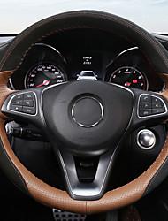 baratos -Cobertura de volante automotiva (couro) para mercedes-benz todos os anos c classe 300 c200l glc260 não traz de volta o padrão