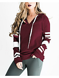 cheap -Women's Cotton Hoodie - Solid Colored / Spring