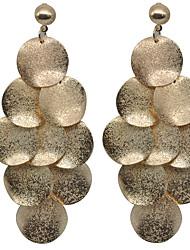 Недорогие -Жен. Серьги-слезки Серьги-кольца - Классический Мода Золотой Овал Серьги Назначение Свадьба Повседневные