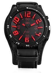 Недорогие -Муж. Кварцевый Армейские часы Китайский Повседневные часы Кожа Группа Cool Черный