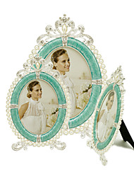 cheap -Antique Classic European Style Rhinestone Alloy Silver Electroplated Picture Frames Wall Decorations, 1pc