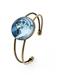 Недорогие -Все Браслет разомкнутое кольцо , металлический Готика Стекло Сплав Круглый Бижутерия Для вечеринок Повседневные Бижутерия Цвет радуги